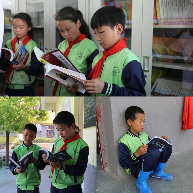 """7.孩子们迫不及待地在""""爱心书屋""""开始阅读  .jpg"""