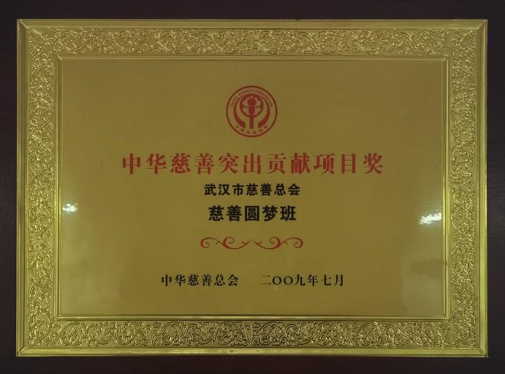 """2009年""""慈善圆梦班""""获中华慈善突出贡献项目奖.jpg"""