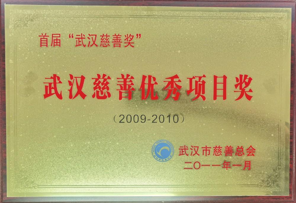 """2009-2010年度首届""""武汉慈善奖""""武汉慈善优秀项目奖.jpg"""
