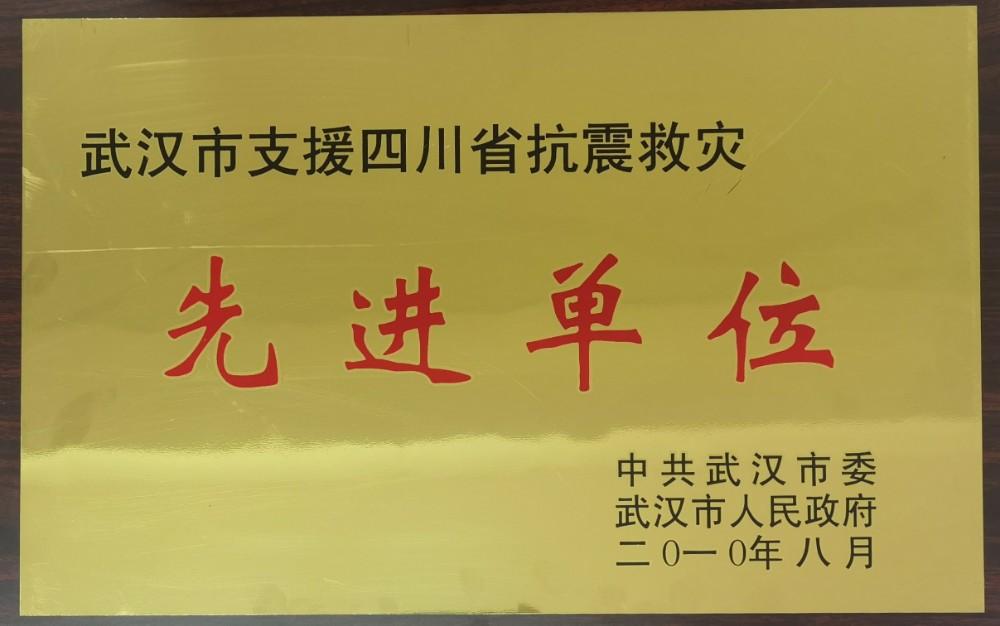2010年被武汉市委市政府评为支持四川省抗震救灾先进单位.jpg